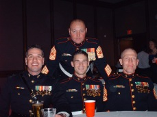 At the Marine Corps Ball with my company staff after my second Iraq Deployment. Finer men I've never known.